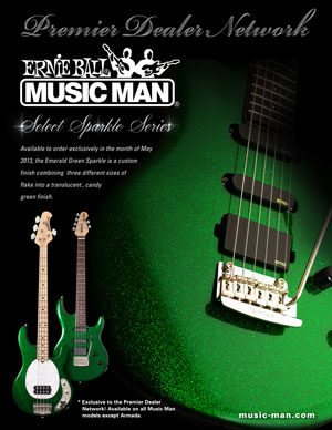 Music Man PDN Select Emerald Green Sparkle 300